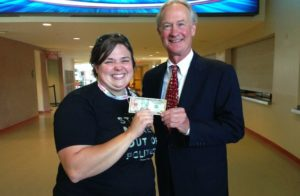 Lincoln Chafee Stamp Stampede
