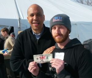 Cory Booker Stamp Stampede