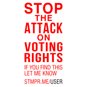 voting rights attack stamp