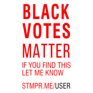 black votes matter stamp